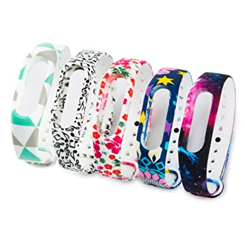 Fit-power Colorida banda reloj de reemplazo para Xiaomi Mi banda 2 bandas de accesorios inteligentes pulsera(No Tracker) (Pack of 5-type A): Amazon.es: ...