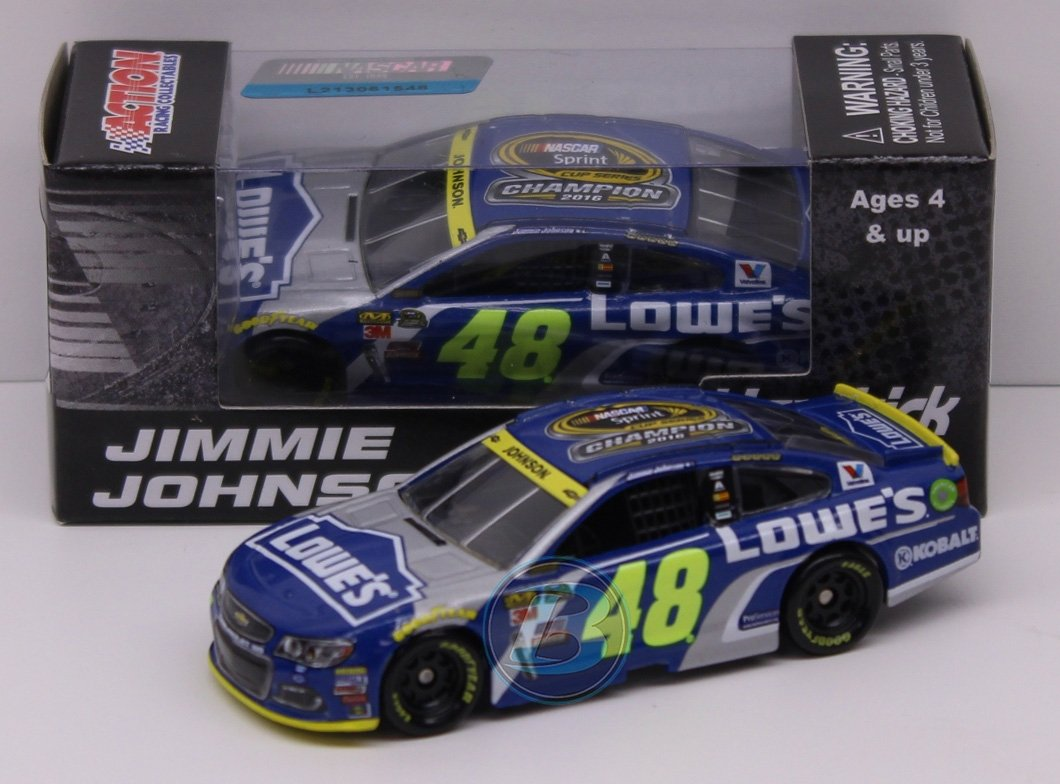 Jimmie Johnson 2016 Lowes NASCAR Sprint Cup Championship Diecast 1:64