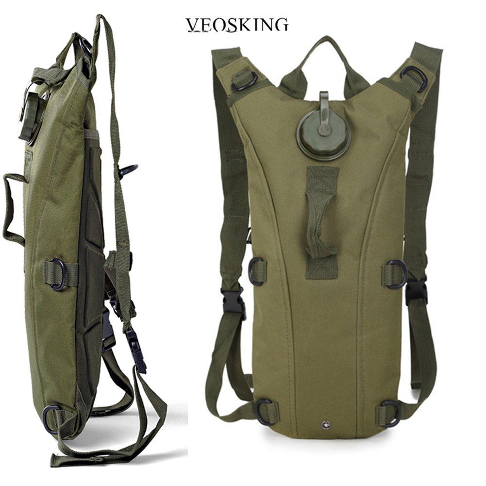 Hydratation Pack Sac /à dos de leau avec 3L deau de la vessie Tactique Camouflage Sac pour V/élo Randonn/ée Escalade Chasse Courir V/élo Camping En Plein Air Sport Activit/és