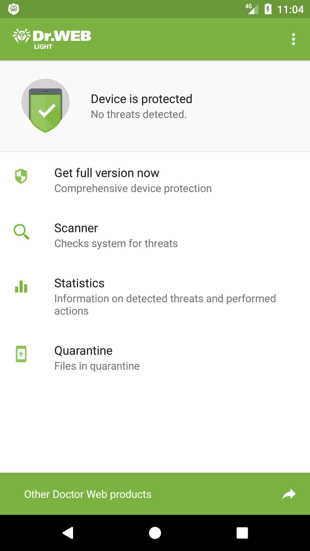 Amazon Com Dr Web Anti Virus Light Appstore For Android