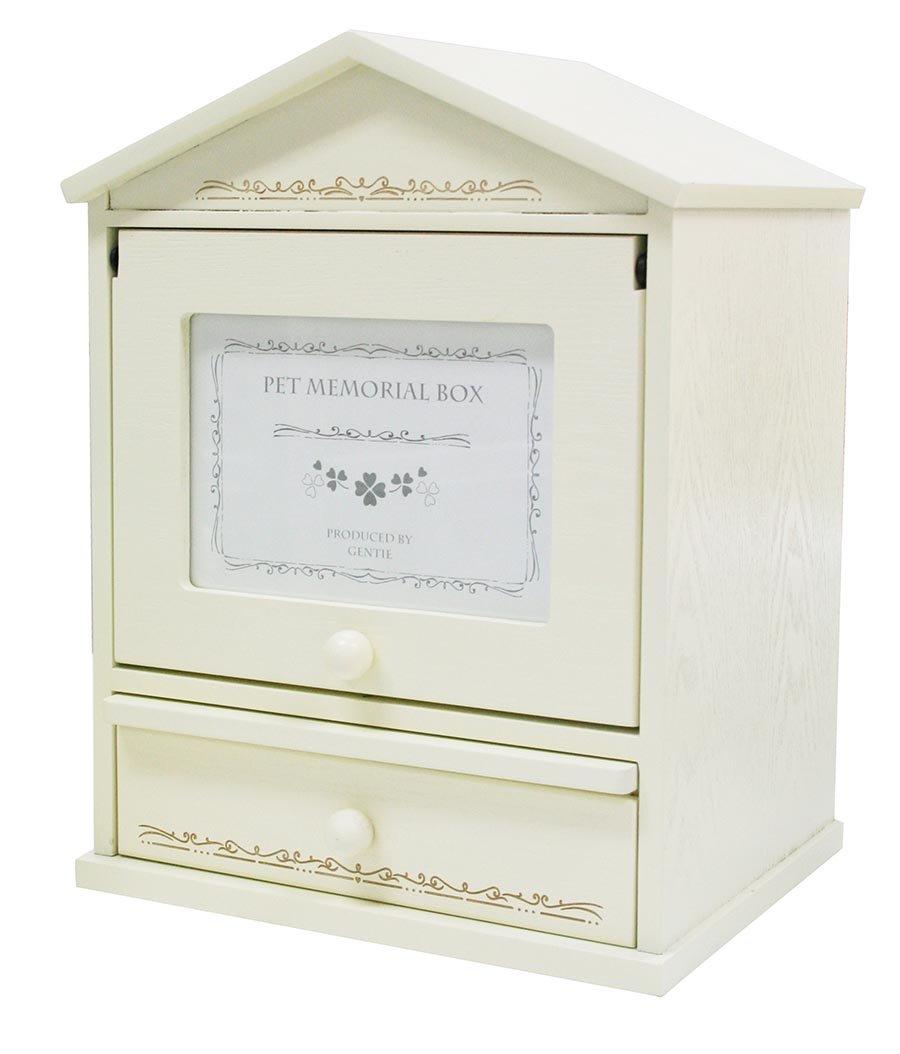 ペット メモリアルボックス (写真フレーム付き 手元供養台 ) ハウス型 ホワイト G-7287N B00ZR1R1KE ホワイト ホワイト