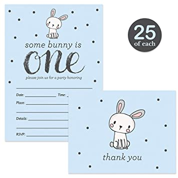 amazon com baby boy 1st birthday invitations 25 matching