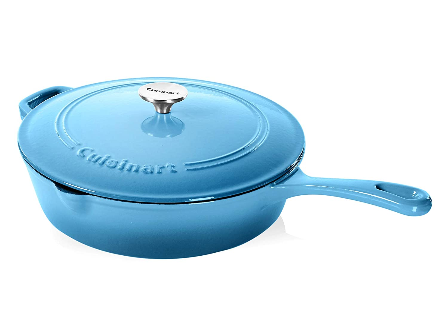 Cuisinart Cast Iron Chicken Fryer, Blue Gradient, 12""