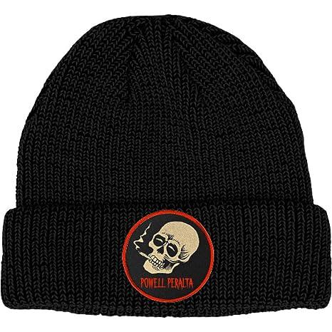 28030aae2ac Amazon.com  Powell Peralta Smoking Skull Black Beanie  Sports   Outdoors