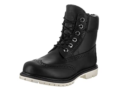 Timberland Women's 6 Inch Premium Brogue Black Boot 6 Women US