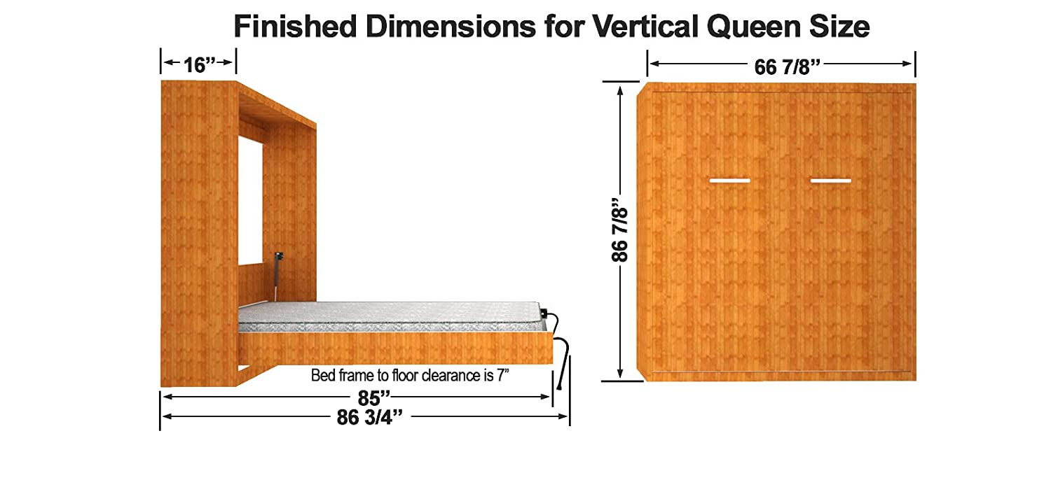 Diy wall bed mechanism - Amazon Com Queen Size Vertical Mount Easy Diy Murphy Wall Bed Hardware Kit Kitchen Dining