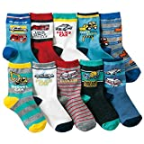 Boys Short Socks Fashion Excavator Cotton Basic Crew Kids Socks 10 Pair Pack