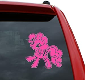 """Black Heart Decals & More My Little Pony/Pinkie Pie Vinyl Decal Sticker   Color: Hot Pink   5"""" Tall"""
