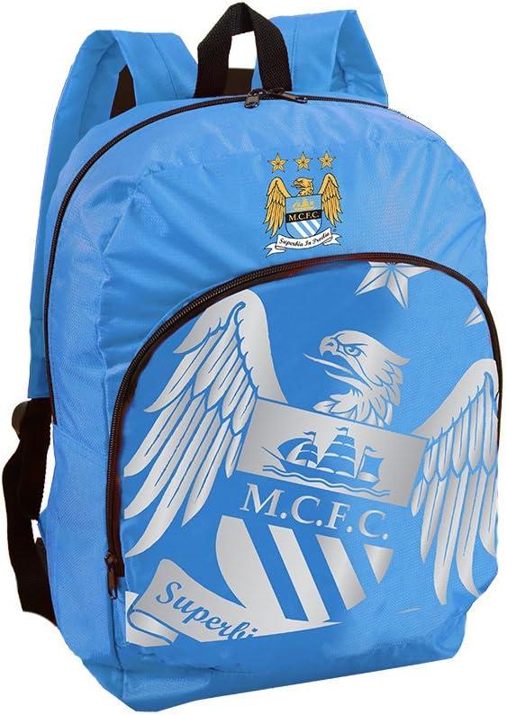 Manchester City FC Sac /à Dos Officiel 42cm Bleu