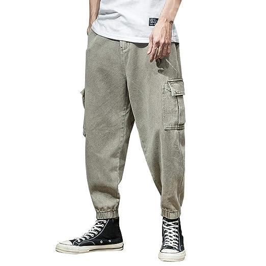CXJ-Pants Pantalones Casuales de Moda for Hombre Pantalones ...