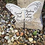 special dad resin butterfly grave side crematorium memorial sticks