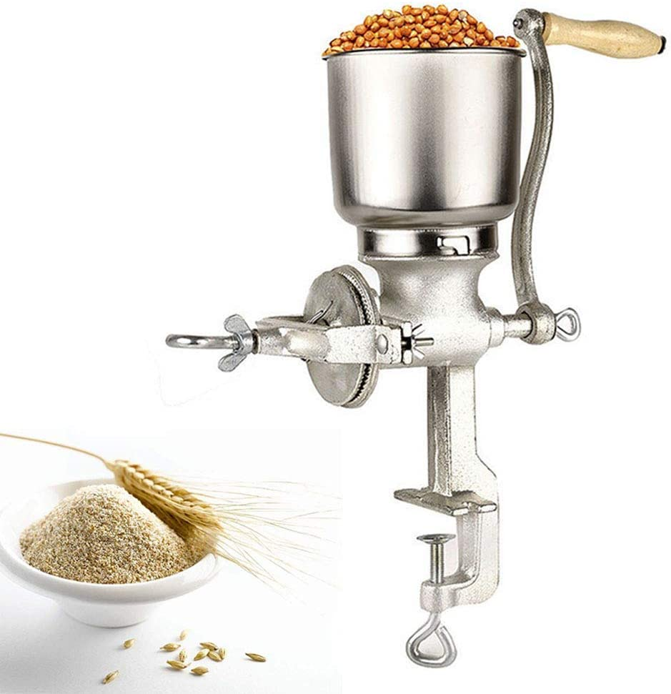 Cocoarm Molino Café,Molino de Grano de café Amoladora de Cocina Ajustable de Mano Molino de harina Molino de máquina de Equipo para Trigo de maíz Avena: Amazon.es: Hogar