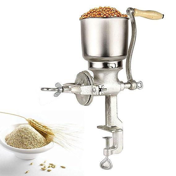 Cocoarm Molino de Grano de café, Amoladora de Cocina Ajustable de Mano Molino de harina Molino de máquina de Equipo para Trigo de maíz Avena: Amazon.es: ...