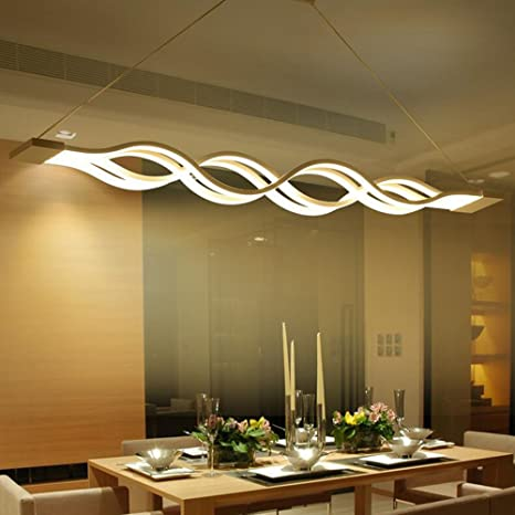 Joypeach 80W LED Pendant Light, Modern/Contemporary,Mini Style Metal Living  Room,Bedroom,Dining Room,110V (Warm White)