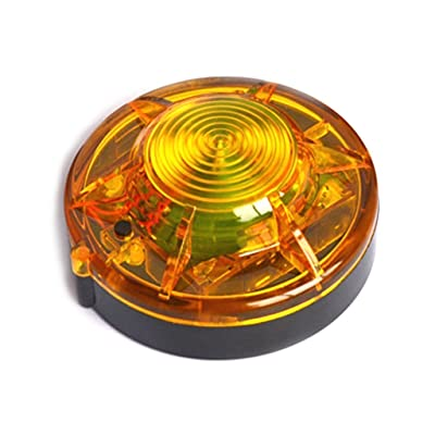 MIUHIU Roadside Flashing Flares Safety Warning Light Emergency LED Strobe Light with Magnetic Base Vehicle and Marine (Amber): Automotive
