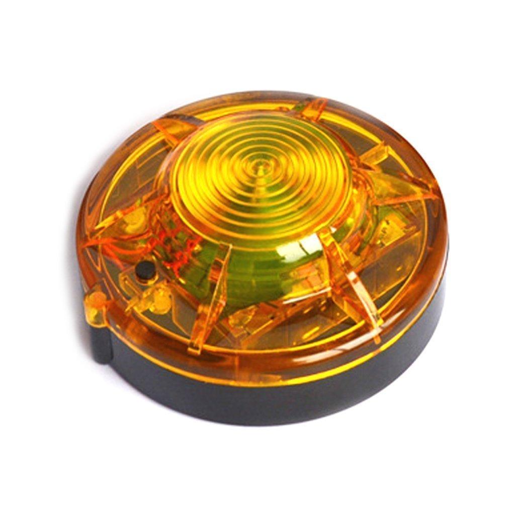Roadside Flashing Flares Safety Warning Light Emergency LED Strobe Light with Magnetic Base Vehicle and Marine (Amber)