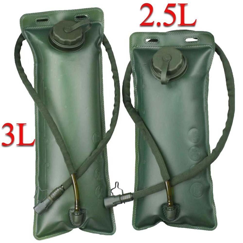 VINILO Poche /à Eau R/éservoir de Stockage de leau 2.5L 3L kit de Survie Militaire Sac Lot avec vanne Housse//Tube Isotherme pour v/élo randonn/ée Camping