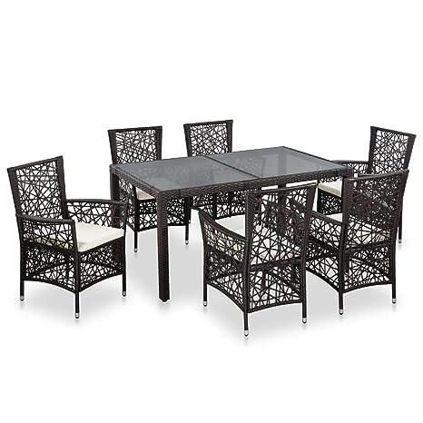 Fesjoy Conjuntos de Muebles de Jardín Restaurante de Jardín de ...