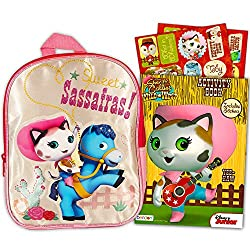"Disney Sheriff Callie Preschool Backpack With Stickers (11"" Mini Toddler Backpack)"