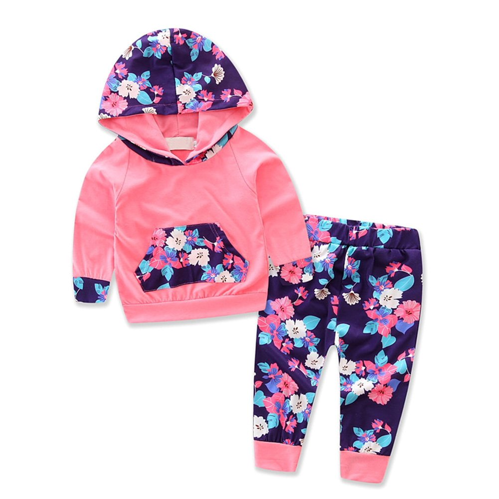 Brightup Baby Girls 0 to 24 Months Hoodies & Tracksuits,Long Sleeve Sweatshirt Pants