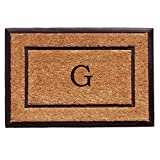 Home & More 101632436G The General Monogram Doormat, Letter G