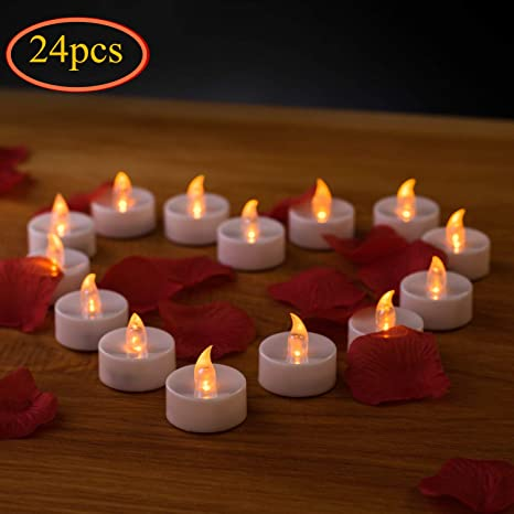 LED Velas, Flameless velas, 24pcs flackern velas velas de té, vela eléctrica luces batería velas de Navidad decoración para bodas, Valentines, Pascua, ...