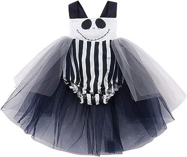 K-Youth Disfraz Halloween Vestidos Niña Tul Princesa Tutú Chica ...