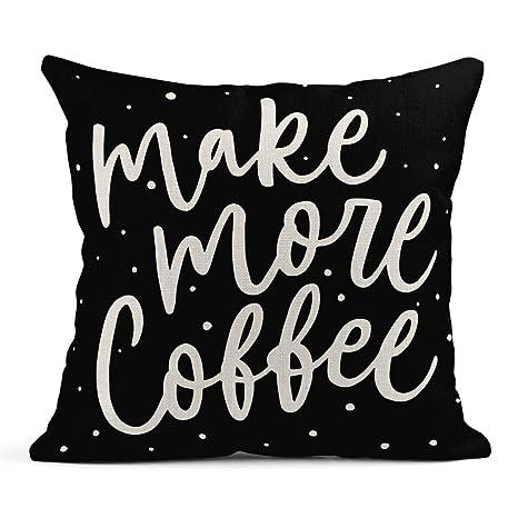 Kinhevao Cojín Hacer más Letras de café Refranes ...
