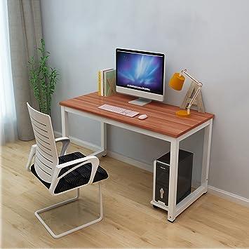 home office desks modern. bigzzia home office desk modern pc computer writing table workstation metal legs study dining reddish desks