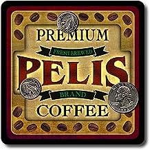 Pelis Coffee Neoprene Rubber Drink Coasters - 4 Pack