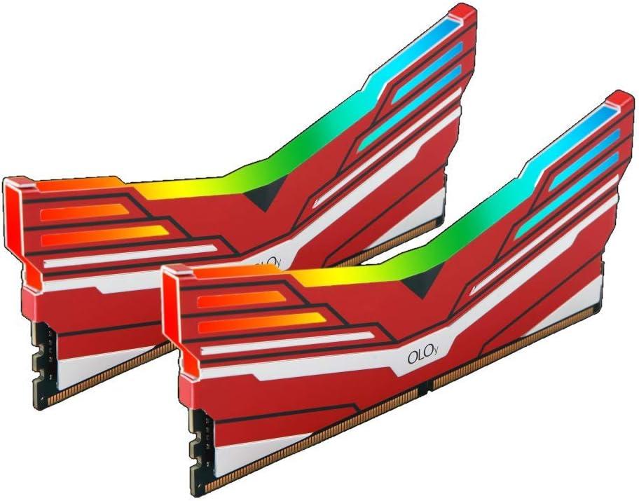 OLOy DDR4 RAM 16GB (2x8GB) Warhawk Aura Sync RGB 3200 MHz CL16 1.35V 288-Pin Desktop Gaming UDIMM (MD4U083216BCDA)