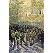 Vincent Van Gogh Poster Adhesive Photo Wall-Print - The Round Of The Prisoners, 1890 (71 x 47 inches)
