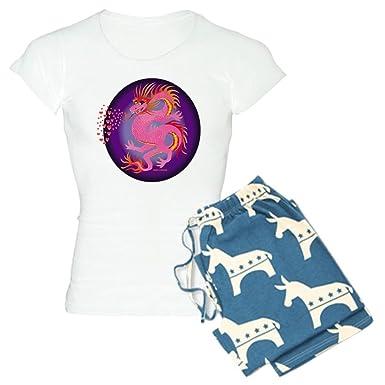 de4e678e8 Amazon.com  CafePress - Pink Dragon with Hearts - Womens Novelty ...