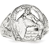 Sterling Silver Horse Ring Size 10