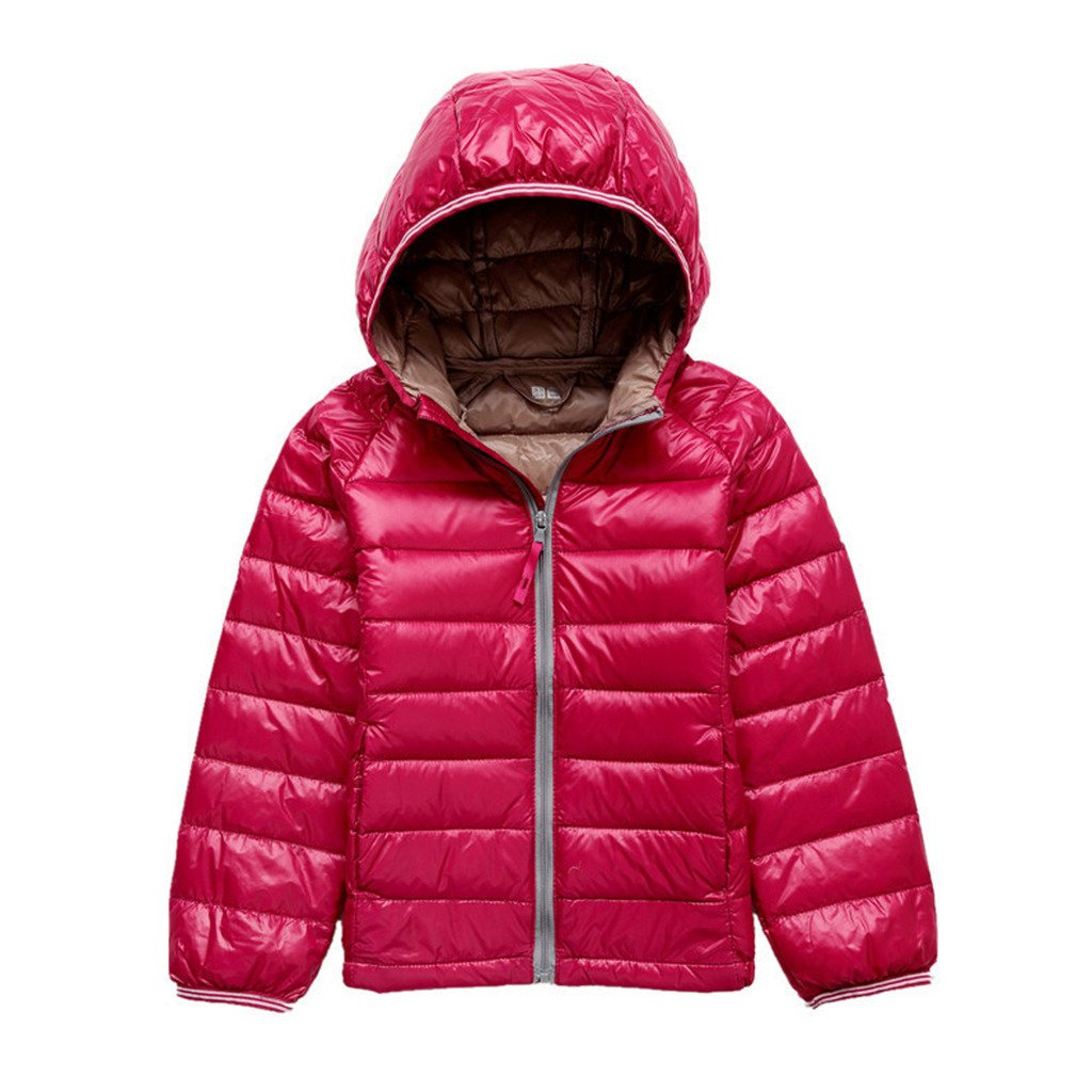 bac54722d Galleon - GETUBACK Kids Down Coat Warm Puffer Jacket With Hood Red ...