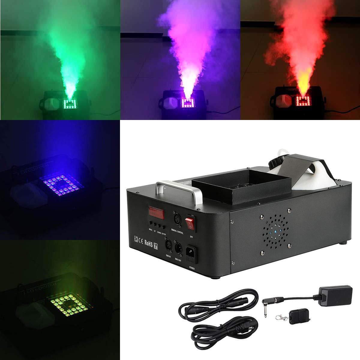 Tengchang RGB 3 in1 24 LED DMX Fog Smoke Machine Stage Lighting Vertical Spray W/Remote