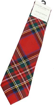 """Lochcarron Tartan Tie 100% Wool 56"""" Long, Stewart Royal, One Size"""