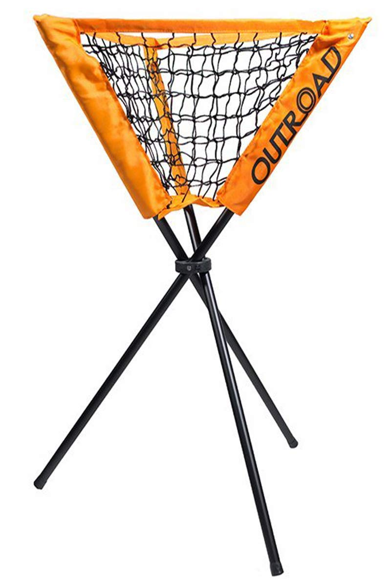 Outroad Practice Ball Caddy Holder for Baseball Batting and Pitching, Portable Bucket of Softballs Training Equipment, Removable with Carry Bag (Orange) by OUTROAD OUTDOOR CAMPING GARDEN PATIO
