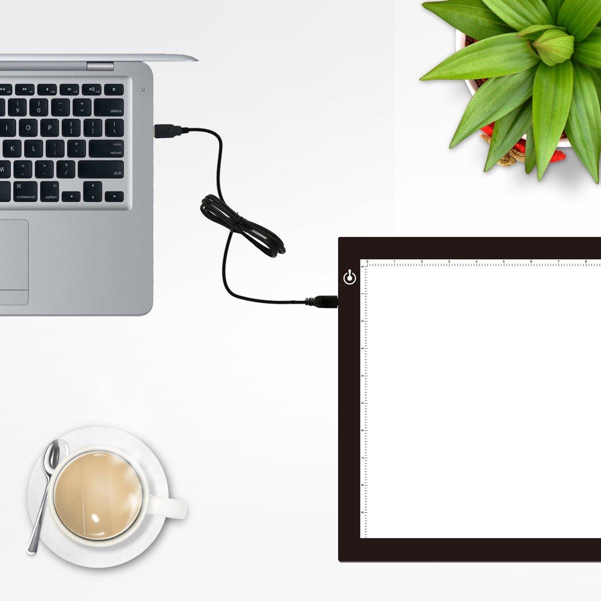 "Amazon.com: Litup Light Box Light Pad L15.63""x W11.81"" Tracing Light Box Drawing Light Board Light Table for Animation Sketching Artcraft- LP-B4"