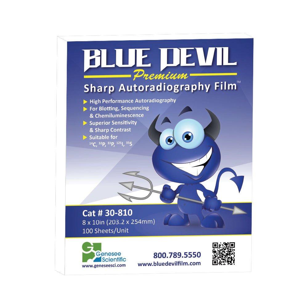 Autoradiography Film 8x10, Blue Devil, Premium, 100 Sheets/Unit by Genesee Scientific