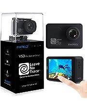 AKASO Action Cam 4K/60fps WiFi Sport Kamera 20MP, 39m Unterwasserkamera mit Touchscreen EIS einstellbar Blickwinkel Fernbedienung, Helmkamera mit kostenlosen Zubehör-Kits (V50 Pro SE)