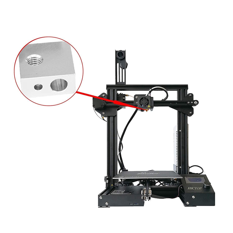 HICTOP Bloque de calefacci/ón para impresora 3D M6 para extrusor MK7 MK8 Makerbot Medel I3