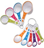 DB Designs 10 Piece Measuring Cup and Spoon Set (Standard and Metric measurements)