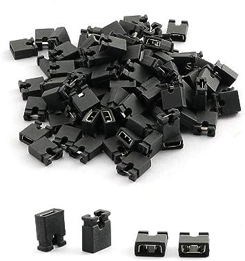 600 PC Standard Computer Jumper Caps Header Pin Shunt Short Circuit 2 ConnectorN