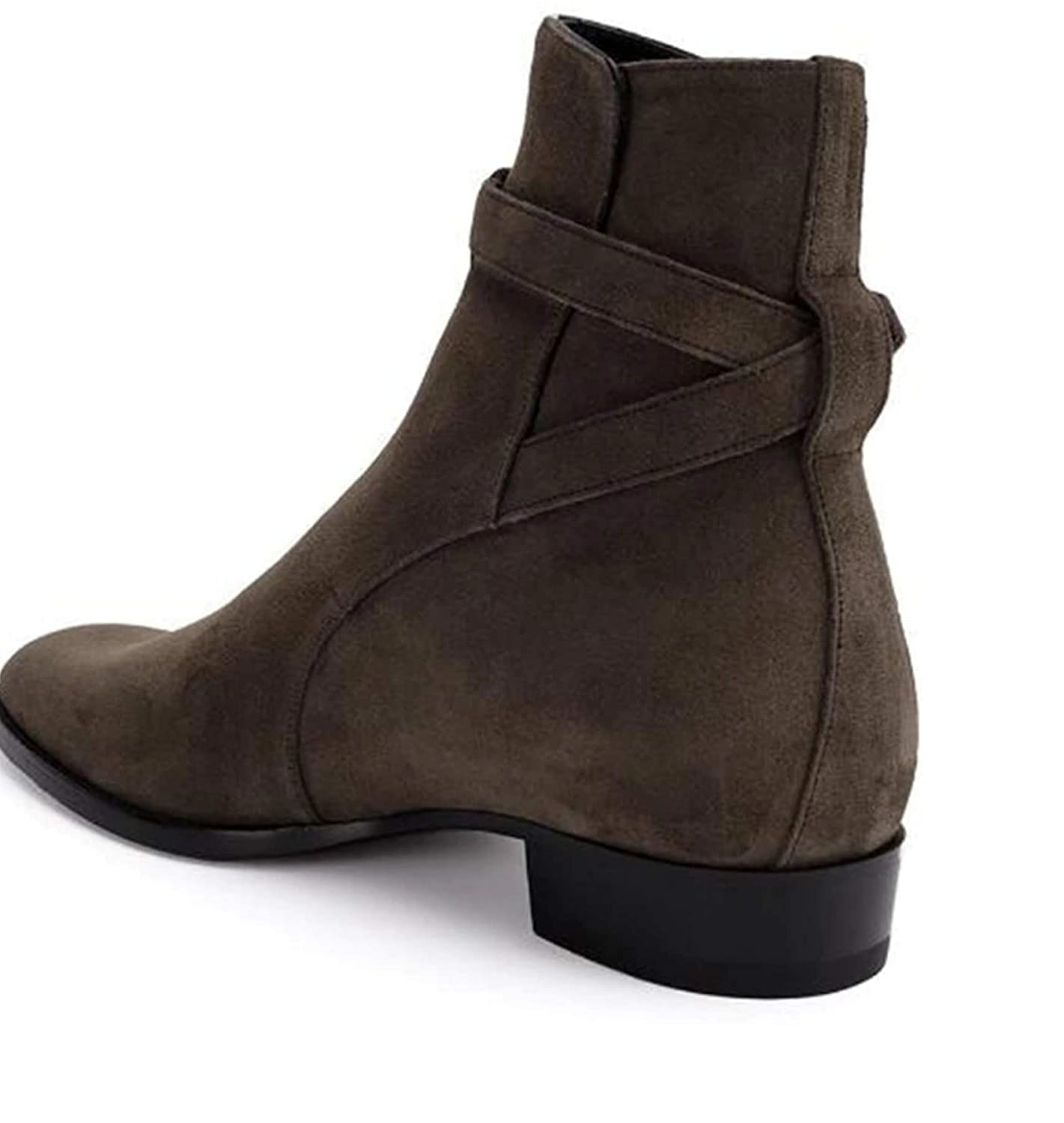 Royal fashionist Brown Suede Harness Boots