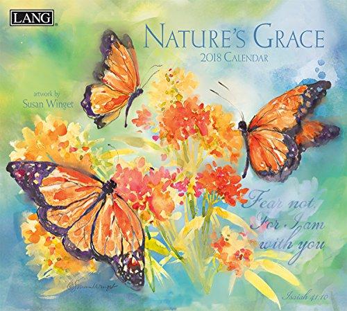 "LANG - 2018 Wall Calendar - ""Nature'S Grace"", Artwork by Susan Winget - 12 Month - Open 13 3/8"" X 24"""