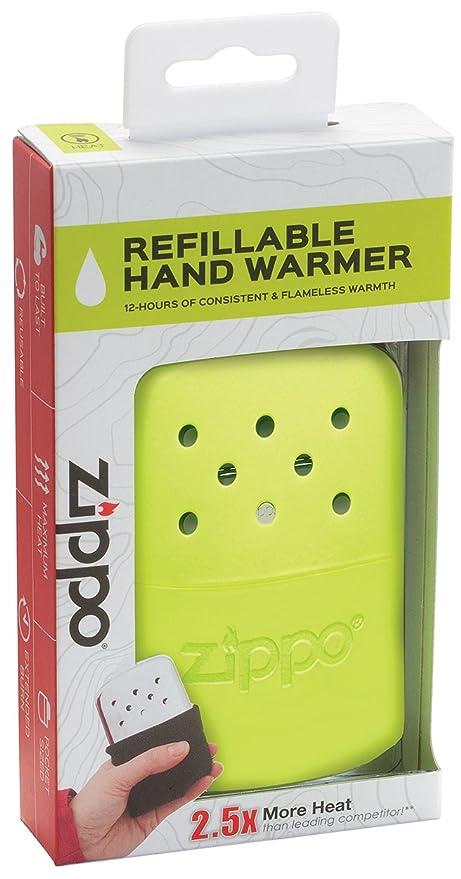 Amazon Zippo 12 Hour Hr Neon Yellow Refillable Hand Warmer