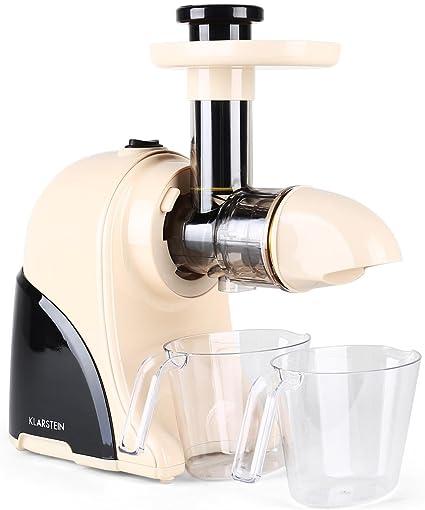 Klarstein Fruitpresso Moreno licuadora (150 W, 80 rpm, licuado en ...