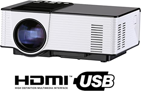 Proyector de vídeo HD LED, mini proyector portátil 1500 lumens ...