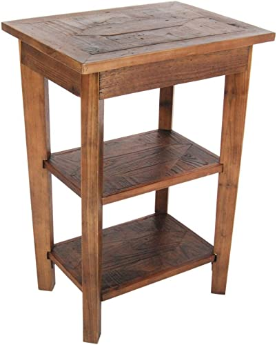 Bolton Furniture Revive – Reclaimed 2 Shelf End Table, Natural